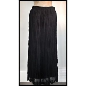 "Roz Ali Maxi Skirt Lined Pleated ""Broomstick"" Med"